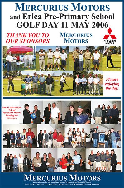 Mercurius Motors Erica Golf Day – 11 May 2006