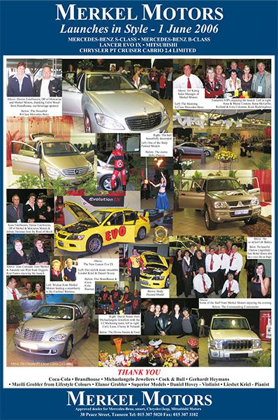 Merkel Motors Brand Launch – 1 June 2006