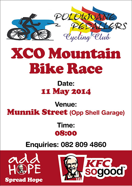 KFC Activation: XCO Mountain Bike Race Event Participation – 11 May 2014