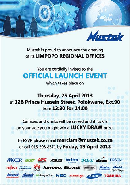 Mustek Limpopo Launch – 20 April 2013
