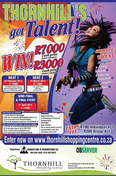 Thornhill's Got Talent Competition: 31 Jan – 21 April 2012