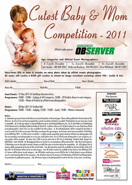 Cutest Baby & Mom Competition: 2011 February – May 2011