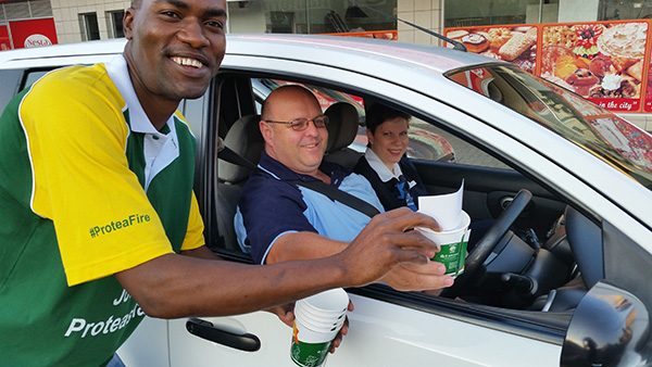 KFC Join The Proteas Family Activation: Virtual Scoring & Cappuccino Give-Away – 9 March 2015