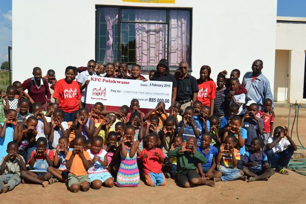 Add Hope Activation: ComeTogether CBO ConsortiumCheque Hand Over – 4 February 2016