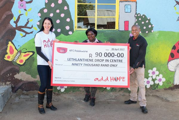 Add Hope Activation: Lethlanthene DICCheque Hand Over – 9 June 2017